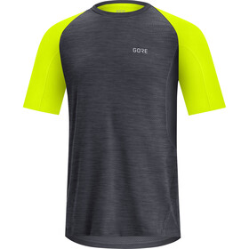 GORE WEAR R5 Camiseta Hombre, negro/amarillo